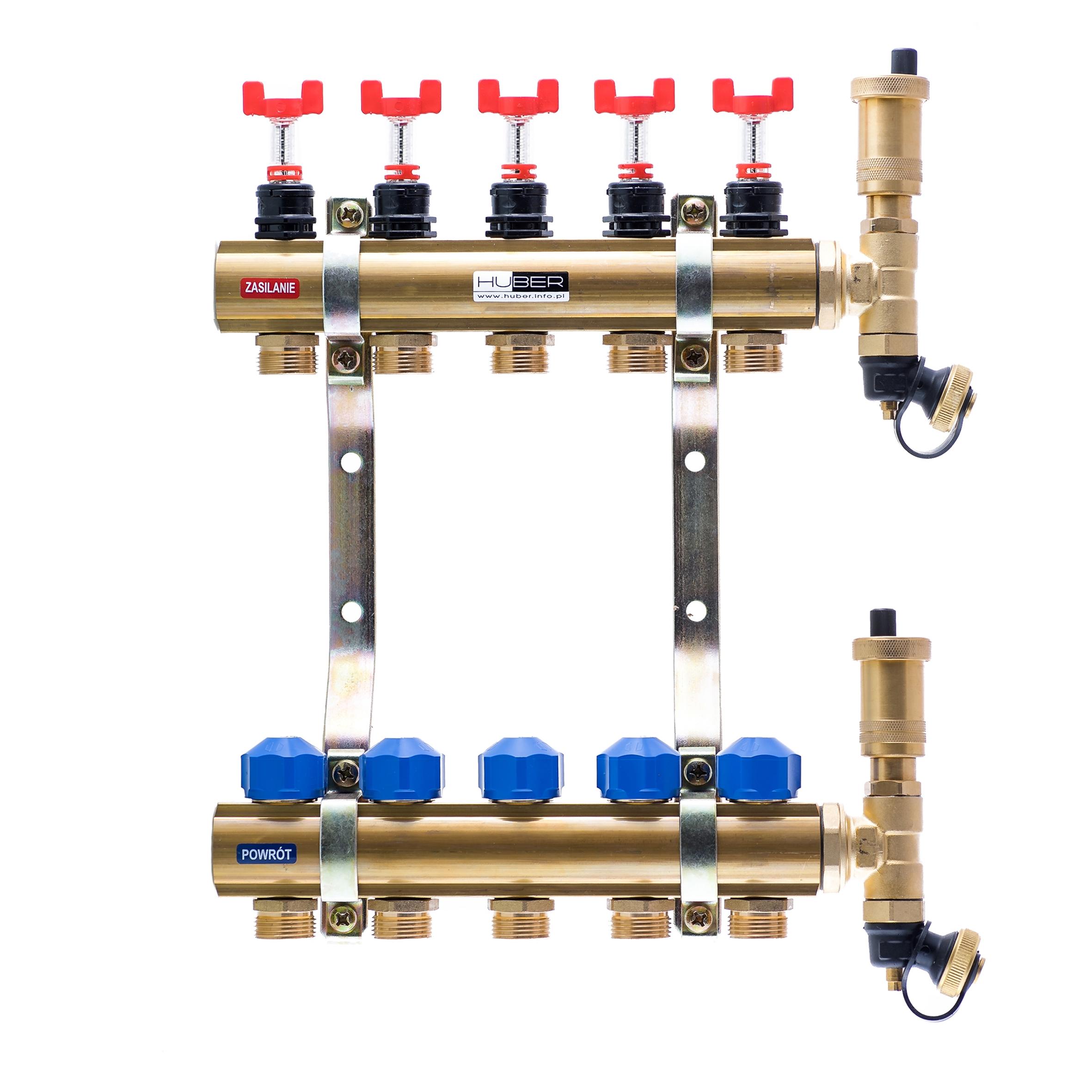 Rozdzielacze z przepływomierzami i wkładkami termostatycznymi typ RW-PT