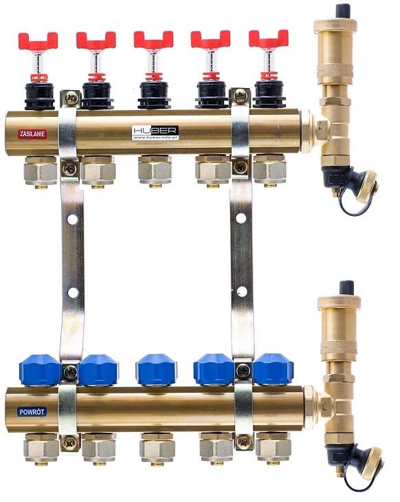 Rozdzielacze z przepływomierzami i wkładkami termostatycznymi typ RW-PTPEX