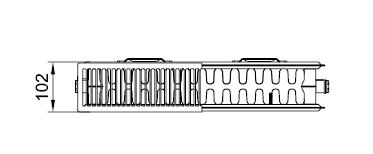 Kermi PLK 22 wys. 605