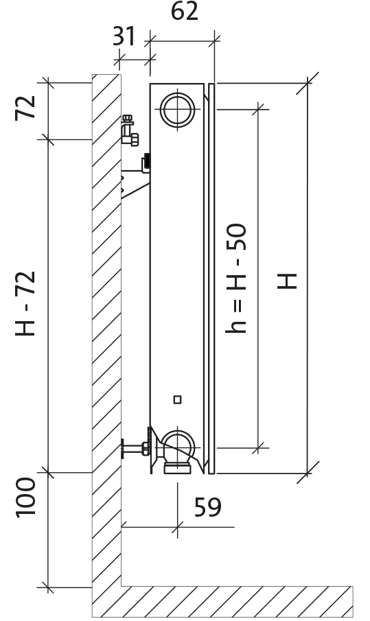 grzejnik purmo ramo ventil compact m rcvm11 300x800. Black Bedroom Furniture Sets. Home Design Ideas