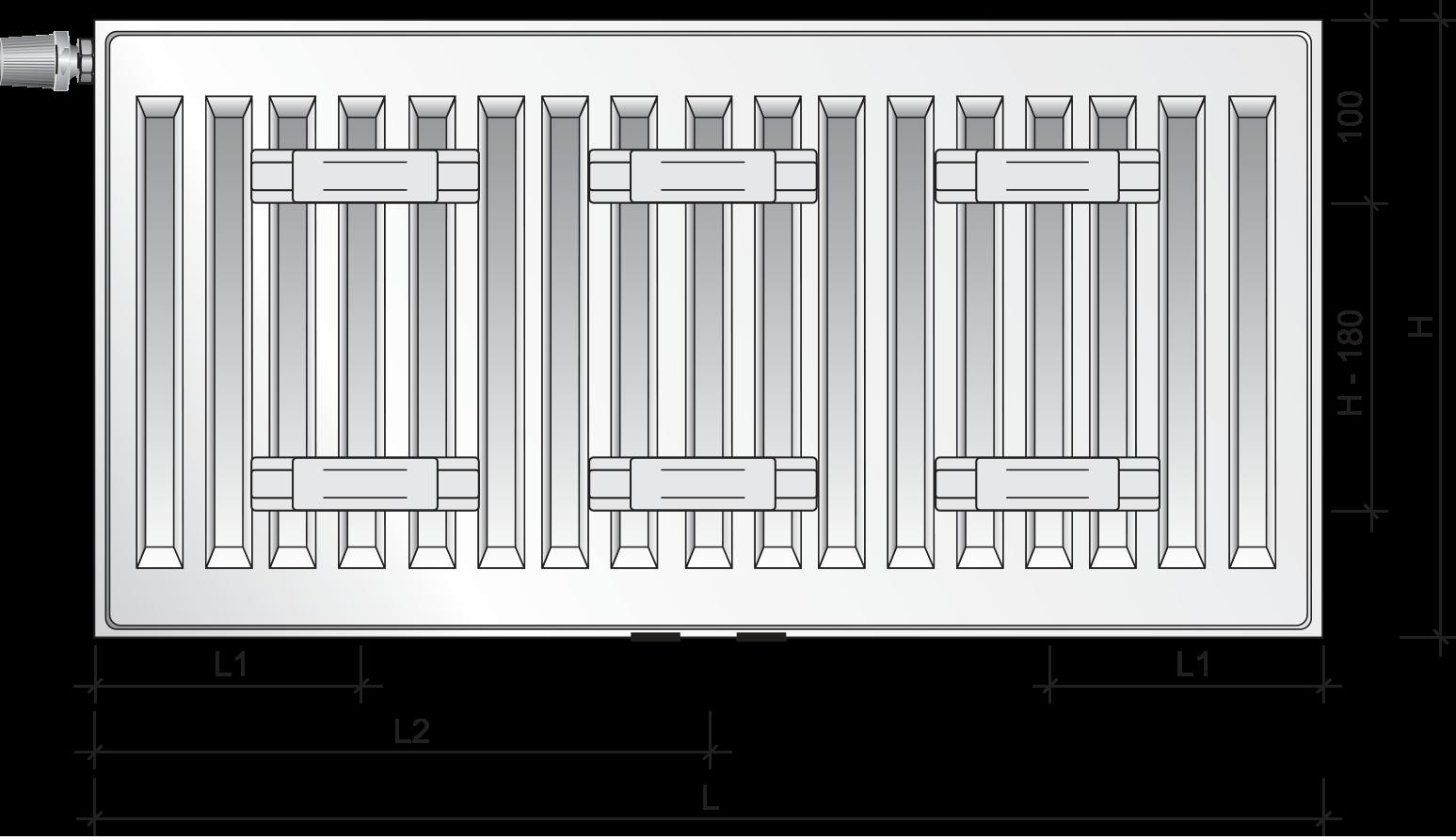 grzejnik purmo ramo ventil compact m rcvm11 300x400. Black Bedroom Furniture Sets. Home Design Ideas