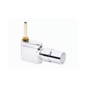 Zestaw do grzejników dekoracyjnych i łazienkowych z połączeniem dolnym D-50 mm VHX-Mono z ogranicznikiem RTX Chrom Prosty 013G4382