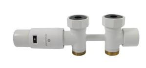 606100098 Zestaw Duo-plex Mini, 3/4 x M22x1,5. Figura prosta. Biały
