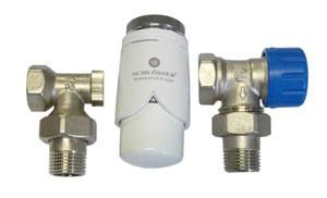 602200003 Zestaw termostatyczny Standard kątowy z głowicą 600200002