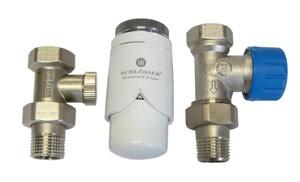 602200004 Zestaw termostatyczny Standard prosty z głowicą 600200002