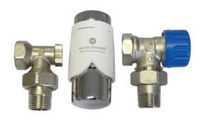 602200005 Zestaw termostatyczny Standard kątowy z głowicą 600200001