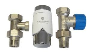 602200006 Zestaw termostatyczny Standard prosty z głowicą 600200001