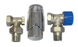 602200007 Zestaw termostatyczny Standard kątowy z głowicą 600200003
