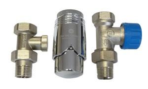 602200008 Zestaw termostatyczny Standard prosty z głowicą 600200003