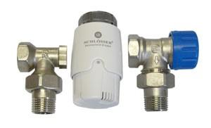 602200009 Zestaw termostatyczny Standard kątowy z głowicą 600100030