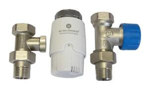 602200010 Zestaw termostatyczny Standard prosty z głowicą 600100030