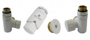 zestaw przyłączeniowy pod grzałkę elektryczną prawy biały do pex