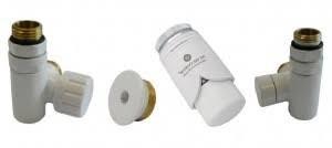 zestaw przyłączeniowy pod grzałkę elektryczną lewy biały do pex