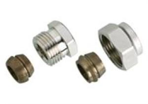 """Złączka zaciskowa do rur stalowych i miedzianych GW 1/2""""A (15 mm) 013G4115"""