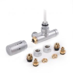 Zestaw zintegrowany kątowy termostatyczny z rurką zanurzeniową lewy Satyna WRZT5G5-ST
