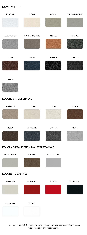 Paleta kolorów Enix