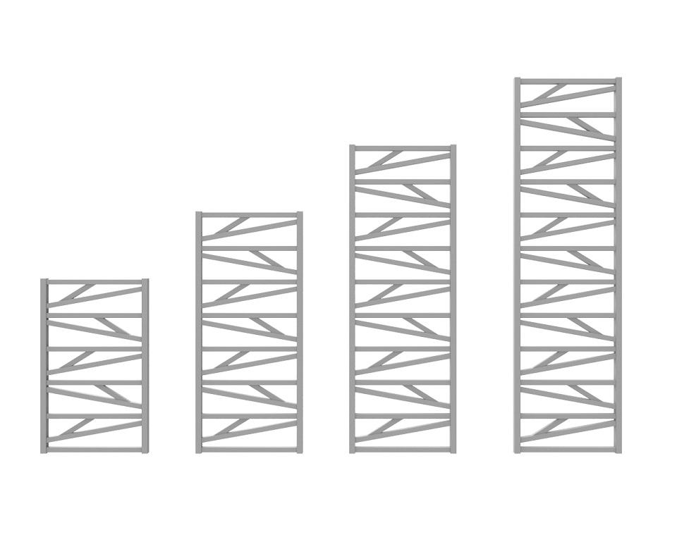 wysokość grzejników trick