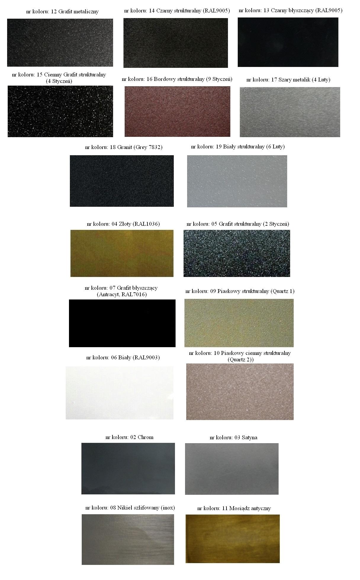 Paleta kolorów Varioterm