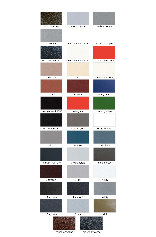 Paleta kolorów Luxrad