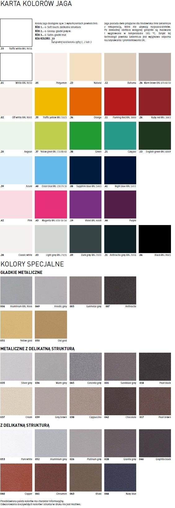 Paleta kolorów Jaga
